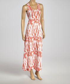 Look what I found on #zulily! Coral Tie-Dye Racerback Dress - Women by Valentine #zulilyfinds