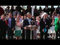 President Obama Speaks at the Cannon Ball Flag Day OMG