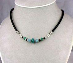 Handmade Jewelry: Gemstone Necklaces: Silver Wire Wrapped Semi Precious Birthstone Beaded jewelry Gifts #HomemadeJewelry