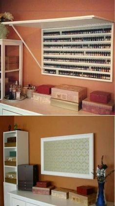 Best Craft Storage Room Nail Polish 62 Ideas Best Picture For chanel Nail Polish For Your Tas Nail Polish Holder, Nail Polish Storage, Nail Polish Crafts, Polish Nails, Organize Nail Polish, Nail Art, Nail Polish Wall Rack, Gel Nails, Privates Nagelstudio