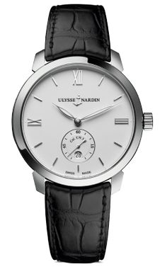 Self-winding manufacture movement. Water-resistant to Sapphire crystals. Leather strap with simple buckle. Fine Watches, Watches For Men, Classic Men, Mens Watches Online, Patek Philippe Calatrava, Popular Watches, Stainless Steel Watch, Watch Brands, Black Rubber