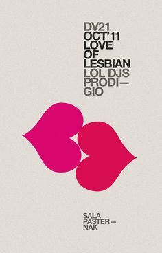 Love of lesbian poster —marindsgn