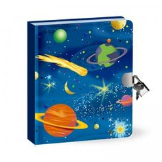 Deep Space Glow in the Dark Lock & Key Diary from Peaceable Kingdom