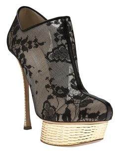 NICHOLAS KIRKWOOD Lace Ankle Bootie: a lady in the streets . . .