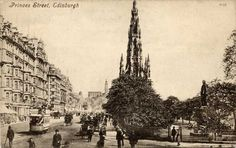 Postcard by Valentine  -   View to the east along Princes Street from the foot of the Mound
