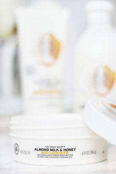 The Body Shop Almond Milk & Honey // Beauty and the Chic Body Shop At Home, The Body Shop, Milk And Honey, Spa Treatments, The Chic, Body Butter, Almond Milk, Your Skin, Bath And Body