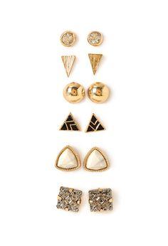 Faux Stone Earring Set | FOREVER21 - 1000117402