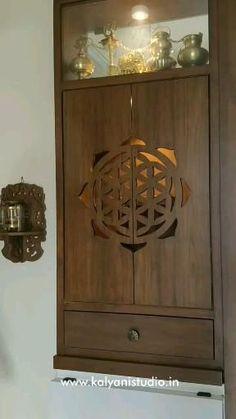 Pooja Room Door Design, Room Design Bedroom, Bedroom Furniture Design, Home Room Design, Home Interior Design, Living Room Designs, House Design, Living Room Partition Design, Room Partition Designs