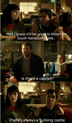 It would rock to live in a country with that many castles. Fresh Meat tv-show Onion Soup Recipes, Onion Soup Mix, Loaf Recipes, Tv Show Quotes, Movie Quotes, British Humor, British Comedy, Vegan Mashed Potatoes, Meat Shop