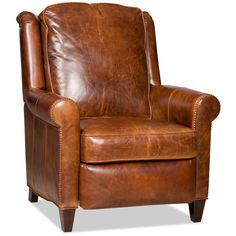 Made in America. Price will vary depending on Leather or Fabric selection. Price may not be for product as shown. Please Call for details. Shown in 9879-87 Leather. Overall size: 35 in. W x 40 in. D x 42 in. H., Arm Height: 25.5 in., Seat Height: 20.5in. <br />LIMITED-LIFETIME WARRANTY:<br />The wooden frame parts are warranted against defective materials and workmanship for the useful life of the chair, based on reasonable use. Bradington-Young will, at its option, repair the defect or…
