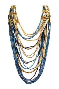 Shimmer Rain Necklace on Emma Stine Limited bought the necklace, now need to go to polyvore to create an outfit..chambray shirt and jeans?