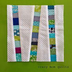 crazy mom quilts: scrappy, scrap, scrap Quilting For Beginners Made Easy Quilting for beginners may Scrappy Quilts, Patchwork Quilting, Mini Quilts, Crazy Quilting, Crazy Quilt Blocks, Jellyroll Quilts, Small Quilts, Tree Quilt Pattern, Scrap Quilt Patterns