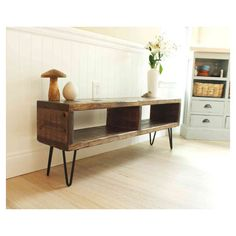TV entertainment center, TV console, reclaimed wood entertainment... ($175) ❤…