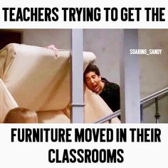 """Sandy on Instagram: """"Have you started moving into your classroom yet? Do you have a lot of furniture to move around? 😂💪🏼 #teachersofinstagram #teachersofig…"""" Teacher Humour, After School, About Uk, Classroom, Teaching, Furniture, Instagram, Teacher Humor, Class Room"""