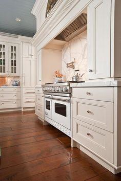 brown, wide plank, refined farmhouse, hardwood floors