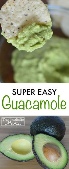 Super easy guacamole recipe. We made this today and it was so good!