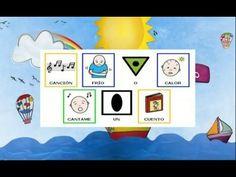 Frío o Calor (estaciones del año), canción infantil con pictogramas - YouTube