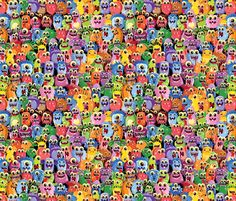 Aliens Everywhere fabric by id_designs on Spoonflower - custom fabric