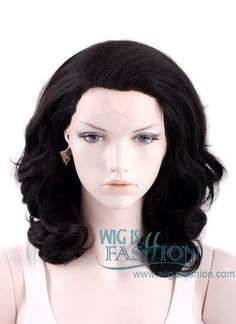 Medium Curly Natural Black Lace Front Synthetic Fashion Wig for Jenny Medium Curly, Wavy Bobs, Arno, Wig Styles, Assassin's Creed, Synthetic Wigs, Wig Hairstyles, Unity, Cosplay