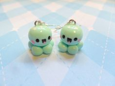 Kawaii Earrings Baby Octopus Earrings Polymer Clay Cute Jewelry via Etsy