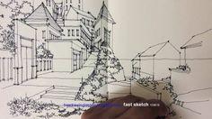 Výsledek obrázku pro perspective drawing village
