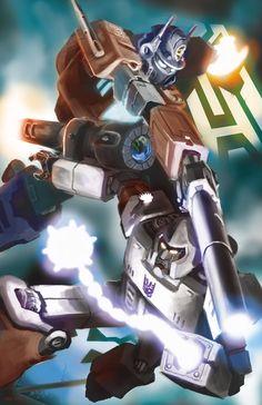 Optimus Prime vs. Megatron by Doomsplosion.deviantart.com on @deviantART