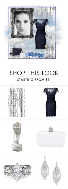 """""""navy and silver magic"""" by justjustin ❤ liked on Polyvore featuring Emilio Pucci, Nine West, Alexander McQueen, Shreve, Crump & Low and Oscar de la Renta"""