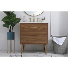 30 Inch Bathroom Vanity, 30 Inch Vanity, 30 Vanity, Wood Vanity, Mid Century Bathroom Vanity, Master Bathroom, Home Depot Bathroom Vanity, Pool Bathroom, Downstairs Bathroom