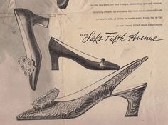 An old Saks Fifth Avenue ad in the New York Times featuring styles produced by Jacques Levine #vintage