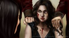 Lady Merreth: There Will Be Blood by SYoshiko on DeviantArt Blood, Halloween Face Makeup, Female, Lady, Art Work, Characters, Deviantart, Rpg, Pretend Play