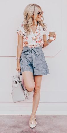 1844db47fa93 6 Trendy Ways To Look Sophisticated In Shorts During The Summer. Classy,  elegant, and chic outfits with shorts to look glamorous and fresh despite  the ...