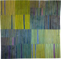 Abstract Contemporary Textile Painting / Art Quilt Markings #26 In Progress©2009 Lisa Call