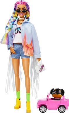 Celebrity Barbie Dolls, Barbie Fashionista Dolls, Barbie I, Barbie World, Barbie Chelsea Doll, Rainbow Braids, Made To Move Barbie, Barbie Doll Accessories, Beautiful Barbie Dolls