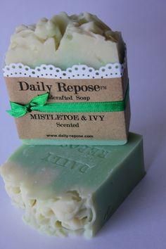 MISTLETOE & IVY Christmas Soap Handmade Bar  Natural  Vegan Cold Process Soaps
