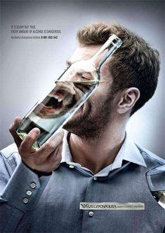 Alcohol and health creative print ad