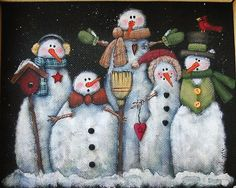 Tole Painting Pattern Glacier Men or Snowmen door barbsheartstrokes