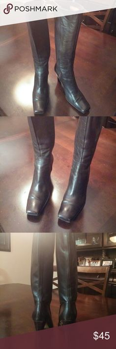 Charles David Brown Heel Boots Charles David Brown Heel Boots - some wear but overall good condition. Charles David Shoes