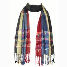 22147b86b914 Grande écharpe multicolore - fabrication artisanale indienne sur  Artiglobe.com