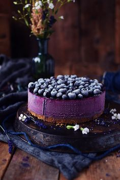 No Bake Blaubeer Cheesecake - No Bake Blueberry Cheesecake (3)