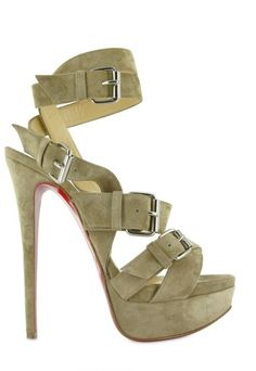 76ca22f2425 christian louboutin 150 Toutenkaboucle Suede Sandals - Lyst Funky Shoes