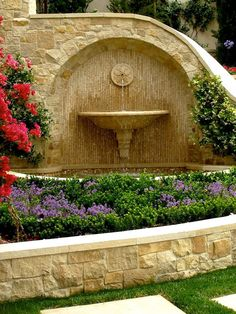 I want a fountain in the corner of the driveway!