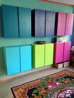 Our dim (did iT myself)  cabinet (ivar ikea with colours) love iT!