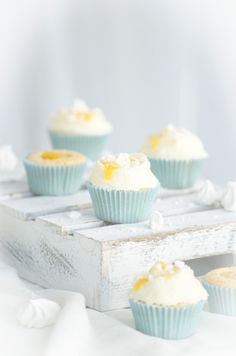 tangy lemon cupcakes with meringue & lemon cream cheese frosting