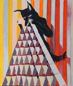 """""""Wolf mit Kartenhaus"""" (wolf with house of cards), 2015 #JonasHofrichter"""