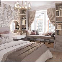 Room Design Bedroom, Girl Bedroom Designs, Room Ideas Bedroom, Home Room Design, Home Decor Bedroom, Bedroom Decor For Teen Girls, Aesthetic Bedroom, Dream Rooms, Luxurious Bedrooms