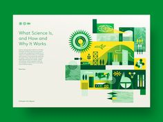 Science designed by Brad Cuzen. Connect with them on Dribbble; the global community for designers and creative professionals. Brochure Layout, Web Layout, Brochure Design, Layout Design, Branding Design, Web Design, Book Design, Design Tech, Apparel Design