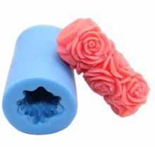 Rose Flower Cylinder Flexible Silicone Mold/Mould For by HappyDIY Soap Carving, Candle Molds, Candlemaking, Diy Molding, Soap Molds, Mold Making, Diy Candles, Clay Crafts, Cement