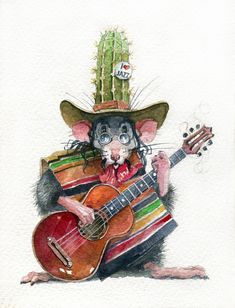 """""""The Rats"""" on Behance Hamsters, Mouse Illustration, Forest Creatures, Cute Mouse, Creature Feature, Watercolor Animals, Whimsical Art, Cute Art, Character Design"""