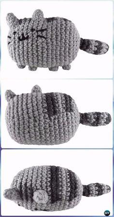 Crochet Amigurumi Pusheen the Cat Free Pattern - Crochet Amigurumi Cat Free Patterns