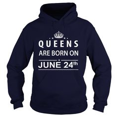June 24 Shirts Queens are Born on June 24 T-Shirt 06/24 Birthday June 24 ladies tees Hoodie Vneck Shirt for Girl and women #gift #ideas #Popular #Everything #Videos #Shop #Animals #pets #Architecture #Art #Cars #motorcycles #Celebrities #DIY #crafts #Design #Education #Entertainment #Food #drink #Gardening #Geek #Hair #beauty #Health #fitness #History #Holidays #events #Home decor #Humor #Illustrations #posters #Kids #parenting #Men #Outdoors #Photography #Products #Quotes #Science #nature…
